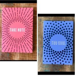 🌺4 Items $25🌺 Flip Journal Notebook - Pink Blue